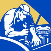 Car Mechanic Working Print by Aloysius Patrimonio