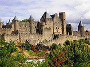 Travel Photography Prints - Carcassonne France Print by Sophie Vigneault