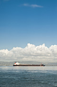 Seagoing Prints - Cargo Ship on the Water Print by Eddy Joaquim