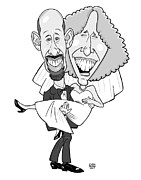 Caricature Metal Prints - Caricature for Will Metal Print by Chris Berg
