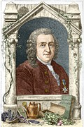 Creationist Framed Prints - Carl Linnaeus, Swedish Botanist Framed Print by Sheila Terry