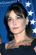 Award Framed Prints - Carla Bruni Sarkozy In Attendance Framed Print by Everett
