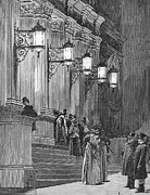 Streetlight Photos - Carnegie Hall, 1891 by Granger