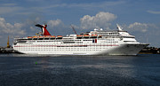 Boat Cruise Framed Prints - Carnival Inspiration Cruise Ship Framed Print by David Lee Thompson