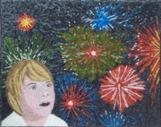 Fireworks Mixed Media Originals - Carnival by Liza Wheeler