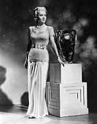 Evening Wear Framed Prints - Carole Landis, Ca. 1941 Framed Print by Everett