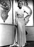 Full-length Portrait Prints - Carole Lombard In The 1930s Print by Everett