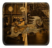 Amusements Framed Prints - Carousel Horses Framed Print by Tisha McGee