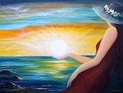 Sunsets Original Paintings - Carpe Diem by Gina De Gorna
