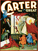 Magic Tricks Framed Prints - Carter the Great Framed Print by Unknown