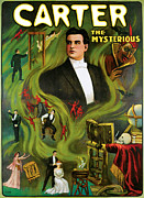 Magic Tricks Framed Prints - Carter the Mysterious Framed Print by Unknown