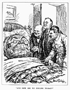 Democrat Prints - Cartoon: Big Three, 1945 Print by Granger