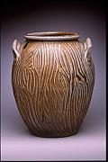 Kiln Ceramics - Carved Jar by Stephen Hawks
