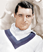 V-neck Sweater Prints - Cary Grant, Ca. 1934 Print by Everett