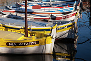 Docked Sailboats Prints - Cassis Boats Print by Brian Jannsen