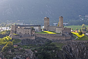 Middle Ages Metal Prints - Castel Grande - Bellinzona Metal Print by Joana Kruse