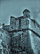Wolken Metal Prints - Castle of Peniscola - Spain Metal Print by Juergen Weiss
