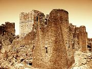 Monochrome Acrylic Prints - Castle Ruins by Roberto Alamino