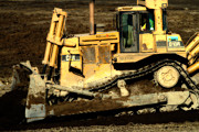 Bulldozer Prints - CAT Bulldozer . 7D10945 Print by Wingsdomain Art and Photography