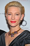 Gold Necklace Framed Prints - Cate Blanchett Wearing A Van Cleef & Framed Print by Everett