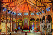 Stain Glass Framed Prints - Cathedral-Color- St Lucia Framed Print by Chester Williams