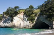 Ocean And Sand - Cathedral Cove by Himani - Printscapes