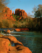 Red Rock Crossing Framed Prints - Cathedral Rock At Redrock Crossing Framed Print by Crystal Garner