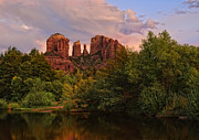 Cathedral Rock Photo Framed Prints - Cathedral Rock Sunset Framed Print by Jeffrey Campbell