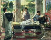 Alma-tadema; Sir Lawrence (1836-1912) Acrylic Prints - Catullus Reading his Poems Acrylic Print by Sir Lawrence Alma-Tadema