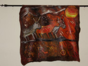 Sun Paintings - Cave art wall hanging by Shelley Bain