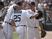 Detroit Tigers Art Photos - Celebration by Cindy Lindow