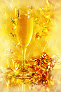 Champagne Metal Prints - Celebration Metal Print by HD Connelly