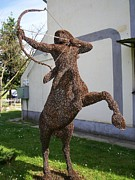 Landscapes Sculptures - Centaur Warrior wire sculpture by Leslie Komaromi