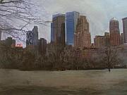 Nyc Mixed Media - Central Park  by Anita Burgermeister
