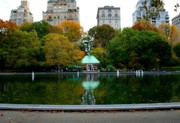 Central Park Prints - Central Park Sailboat Lake Print by Christopher Kirby