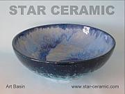 Modern Ceramics - Ceramic Art Basin by Michael Amado