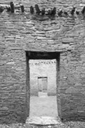 American History Photos - Chaco Canyon Doorways 1 by Carl Amoth
