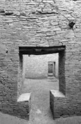 Pueblo People Posters - Chaco Canyon Doorways 2 Poster by Carl Amoth
