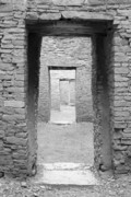 Pueblo People Posters - Chaco Canyon Doorways 3 Poster by Carl Amoth