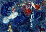 Adam Prints - Chagall: Adam And Eve Print by Granger