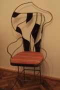 Iron  Sculptures - Chair by Raluca Polea