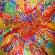 Chakra Paintings - Chakra Layers by Lisa Elizabeth
