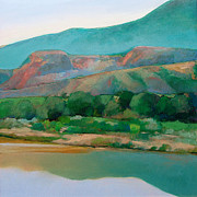 Abiquiu Paintings - Chama River by Cap Pannell