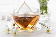 Teapot Metal Prints - Chamomile tea Metal Print by Elena Elisseeva