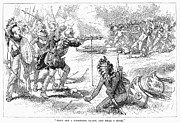 Champlain Photos - Champlain Fighting Native Americans by Granger