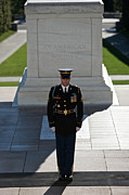 Front View Art - Changing Of Guard At Arlington National by Terry Moore