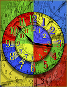 Clock Digital Art Posters - Changing Times Poster by Mike McGlothlen