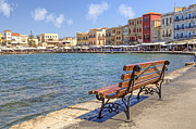 Park Bench Photos - Chania - Crete by Joana Kruse