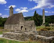 Monasticism Metal Prints - Chapel Of Saint Kevin At Glendalough Metal Print by The Irish Image Collection