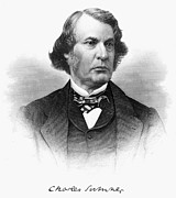 Abolition Photo Framed Prints - Charles Sumner (1811-1874) Framed Print by Granger